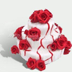 Свадебный с красными розами