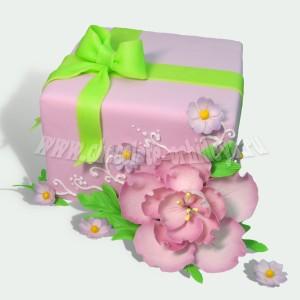 Подарочный с цветком