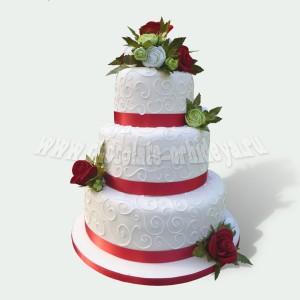 Свадебный с живыми цветами