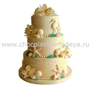 Beach-Themed-Wedding-Cake-Knife-Server-Set