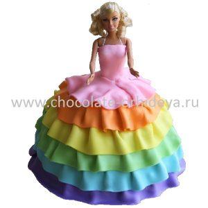 rainbow-barbie-cake