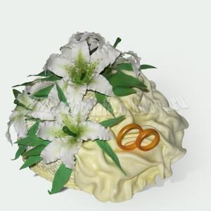 свадебный с кольцами