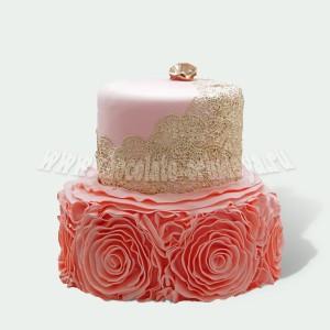 Розовый с камнем