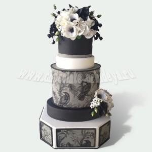 Свадебный с рисунком