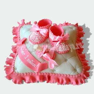 Подушка с пинетками