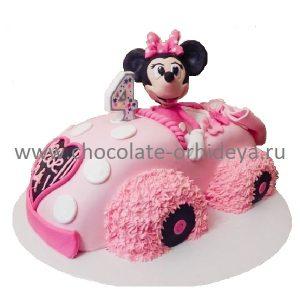 Розовый авто для Микки